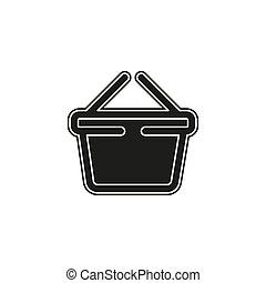 shopping basket icon - commercial shop button - retail icon