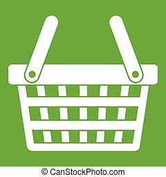 Shopping basket icon green