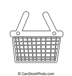 Shopping Basket icon illustration design