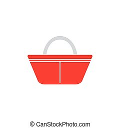 shopping basket icon. Logo element illustration. shopping basket symbol design. colored collection. shopping basket concept. Can be used in web app