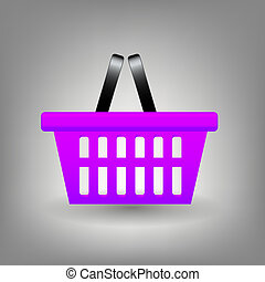 Shopping basket icon vector illustration