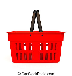 Shopping basket - isolated on white background