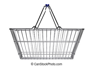 Shopping basket isolated on white
