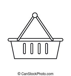 shopping basket, line style icon