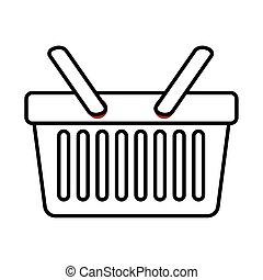 shopping basket line style icon