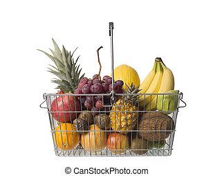 Shopping-basket of fruit