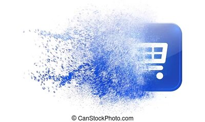 Shopping basket. Online shopping in the online store. -...