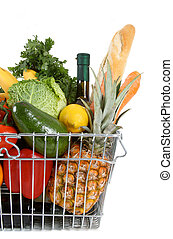 shopping basket - Shopping basket filled with fresh fruit ...