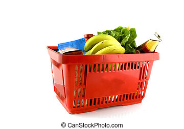 Shopping basket - shopping basket full with dairy food