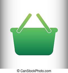 Shopping basket sign