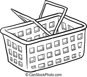 Shopping basket sketch