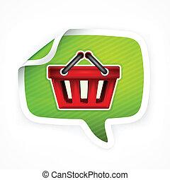 Shopping basket sticker