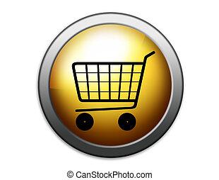 Shopping basket illustration. Shopping.