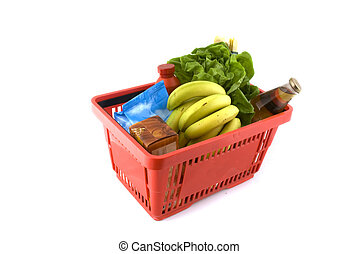 Shopping basket with daily products