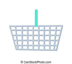 Shopping Basket with Handle Vector Illustration