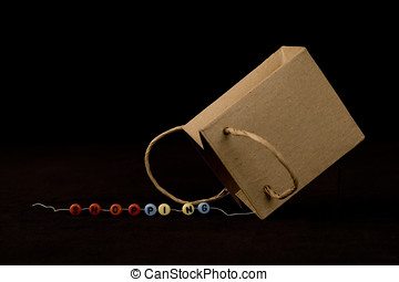 shopping - beads and paper bag