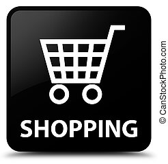 Shopping black square button