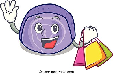 Shopping blueberry roll cake character cartoon