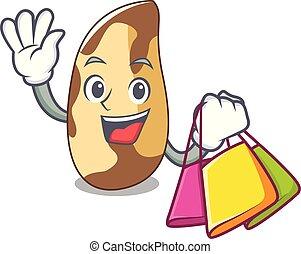 Shopping brazil nut character cartoon