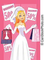 Shopping bride
