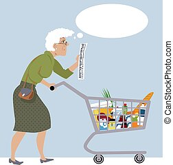 shopping, budget, drogheria