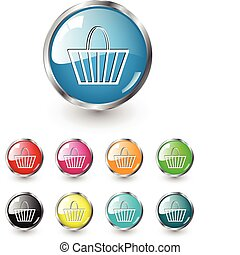 Shopping, buy icons, vector set