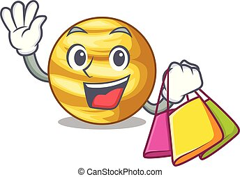 shopping, céu, planeta, acima, venus, caricatura, raio