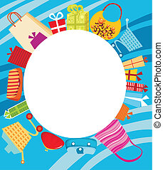 shopping card - vector illustration of a shopping card