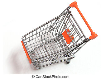 An empty trolley-top angle view