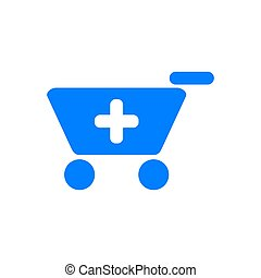 Shopping cart and background