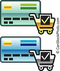 Shopping cart and Credit Card Icon