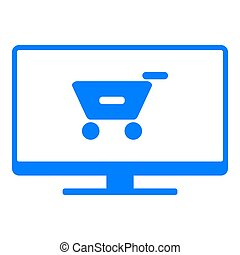 Shopping cart and screen