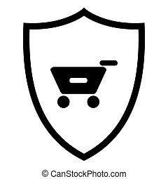 Shopping cart and shield