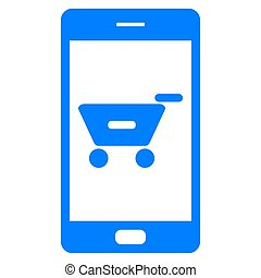 Shopping cart and smartphone