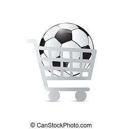 shopping cart and soccer