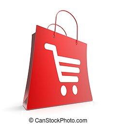 Shopping Cart Bag Shows Retail Basket Checkout