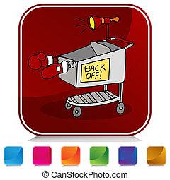 Shopping Cart Battle Button Set