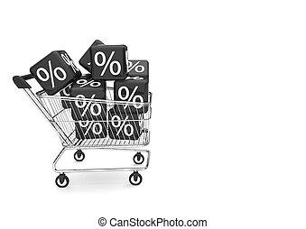 Shopping Cart Black Friday Percent Cubes