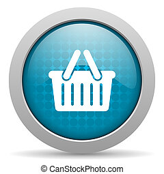 shopping cart blue circle web glossy icon