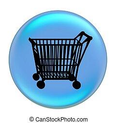 shopping cart button blue