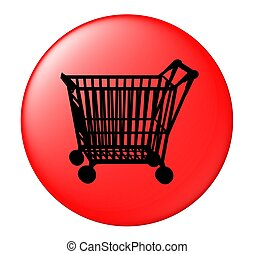 shopping cart button red