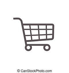 Shopping cart checkout icon