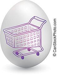 Shopping cart easter egg