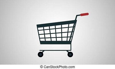 Shopping cart empty HD animation