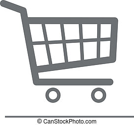 Shopping Cart - minimalistic illustration of a shopping cart...