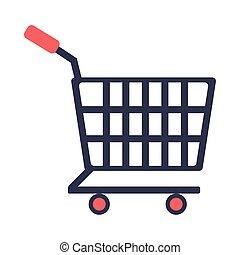 shopping cart flat style icon