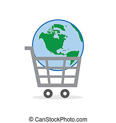 Shopping Cart Globe