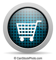 shopping cart glossy icon