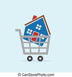 Shopping Cart House