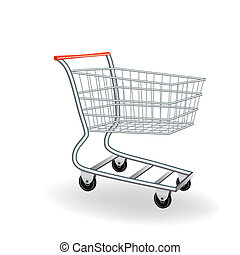 Shopping cart icon 3d. Vector illustration. Element for...
